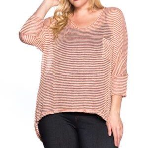 Curvy Size Sun Rays Shimmery Sweater